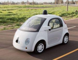 Aperçu d'un des modèles de voiture autonome en développement chez Google - Google copyright