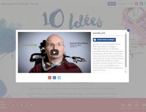 Jaccede.com, qui utilise les nouvelles technologies pour améliorer l'accessibilité de tous, compte parmi les dix finalistes.