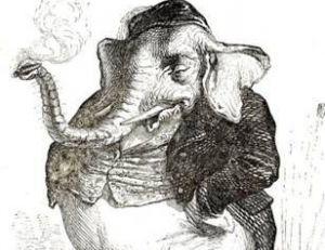 """Illustration de Grandville, extraite de """"Vie publique et vie privée des animaux"""""""