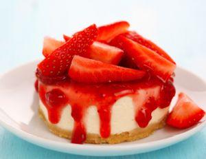 Recette préparée à base de fraises