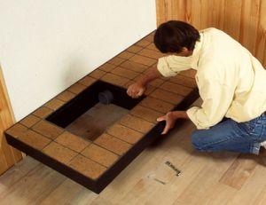 Pose des bases de la cheminée