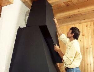 Installation d'une cheminée