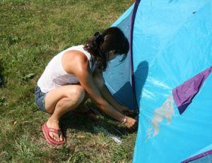 Installer un campement confortable