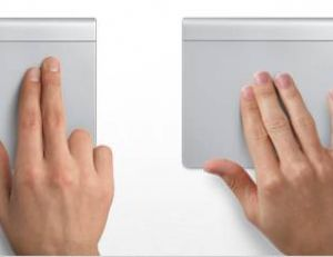Principales intéractions du Trackpad Multitouch - Apple ©