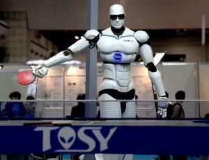 Aperçu d'un robot lors du salon IREX au Japon