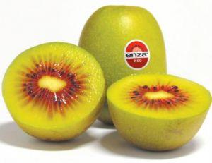 """Le """"kiwi rouge"""" EnzaRed a la particularité d'être très sucré et pas du tout acide -                    © EnzaRed"""