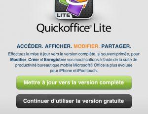 Lancez Quickoffice Lite