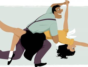 Illustration de lindy hop