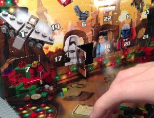 Aperçu d'un calendrier de l'Avent Lego