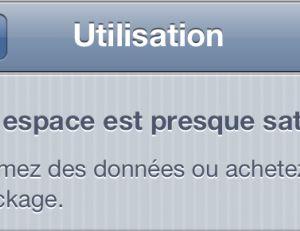Optimisez la mémoire de votre iPhone