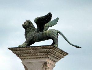 Lion ailé de la place Saint-Marc à Venise