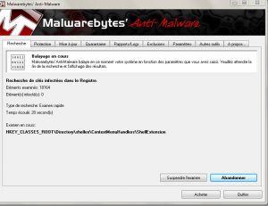 L'outil MalwareBytes
