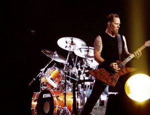 Le groupe Metallica lors d'un concert à Londres en 2008 - copyright Mark Wainwright / Flickr CC.
