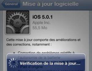 Mise à jour d'un iPhone sans fil