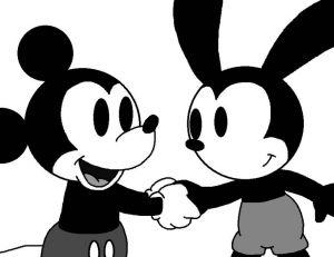 Quand Mickey Mouse rencontre Oswald, le lapin qui influença sa création - Copyright Deviantart