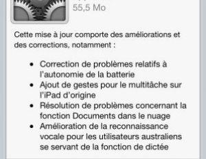 Menu de mise à jour logicielle - iPhone