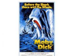 """Affiche du """"Moby Dick"""" réalisé par John Huston avec Gregory Peck"""