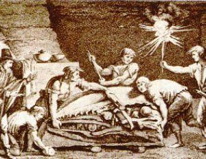 Le monstre de Maastricht dans sa carrière de grés
