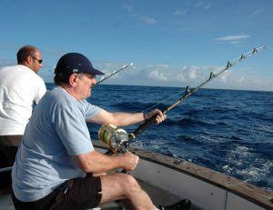 Les moulinets à tambour tournant sont souvent utilisés pour la pêche au gros
