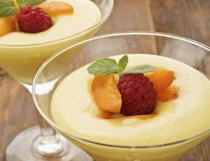 Mousse glacée à l'abricot
