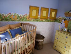 Mur d'une chambre de bébé