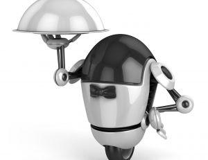Un robot serveur fictif