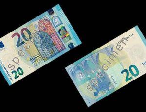 Aperçu du nouveau billet de 20 euros - copyright BCE