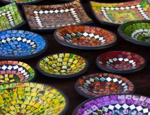 Décorer un objet avec de la mosaïque