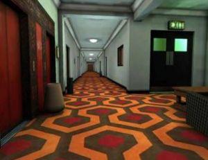 Aperçu du décor du film Shining de Stanley Kubrick représentant l'intérieur de l'Overlook