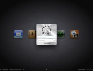 Page d'accueil du site iCloud