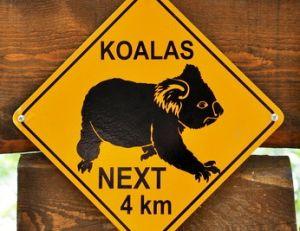 Pancarte très fréquente dans l'Est de l'Australie