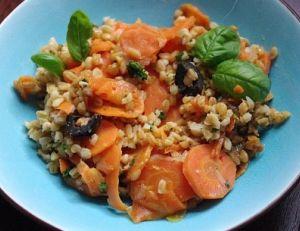 Recette du petit épeautre aux carottes