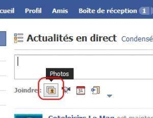 Joindre une photo ou vidéo sur Facebook