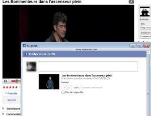 Partager une vidéo sur net sur Facebook