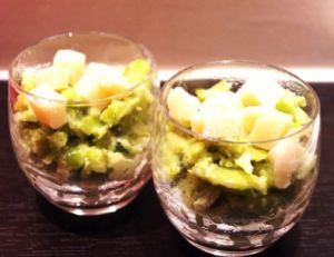 Purée de fèves au parmesan et à la menthe
