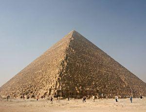Aperçu de la pyramide de Khéops - copyright wikimedia commons