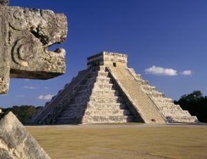 La pyramide de Chichen Itza, Mexique