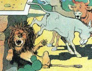 Le lion ? roi de quelque chose ? © Benjamin Rabier