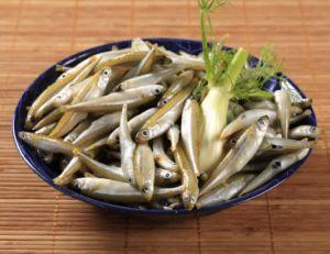 Assiette d'anchois