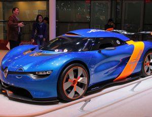 Aperçu d'un concept car Renault Alpine - creative commons