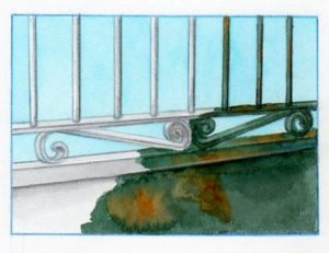 Traiter la rouille sur un portail