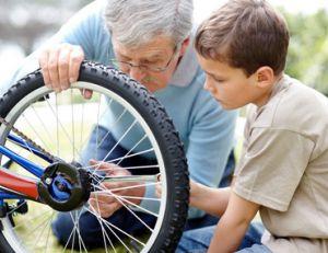 Réparer un pneu de vélo