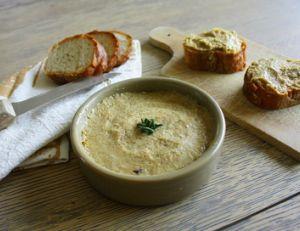 Rillettes de thon, moutarde et coriandre