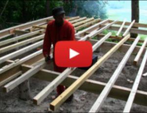 Eldamar : pose du plancher et réalisation de l'ossature