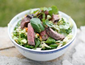 Recette de la salade de boeuf aux saveurs d'Asie