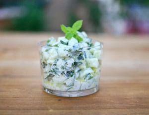 Salade de concombre à la menthe fraîche
