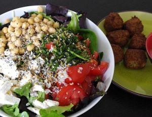 Salade de pois chiches façon libanaise