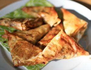 Recette du samoussa au thon et aux légumes