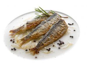 Sardines à la sauce échalote