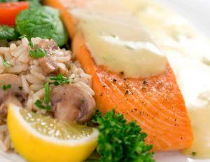 Saumon de la Loire sauce anchois